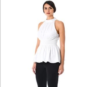 Curry White flare babydoll shirt custom size 34